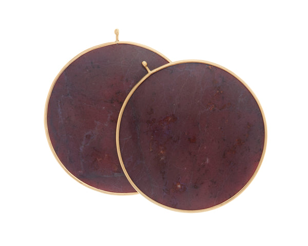 Purple Jade Disc Pair