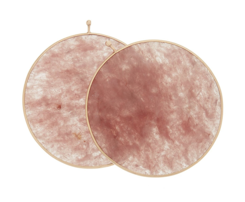 Rose Quartz Disc Pair