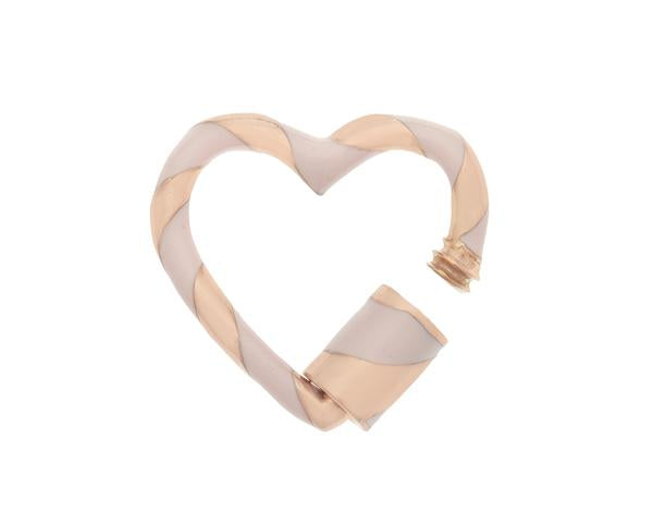 Heartlock with Blush Enamel