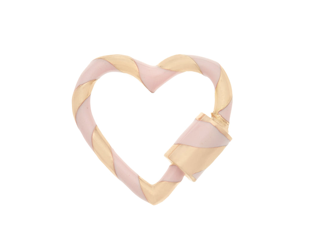 Heart Lock with Blush Enamel