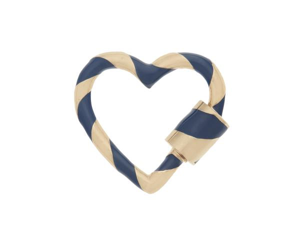 Heart Lock with Navy Enamel