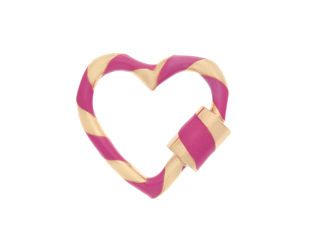 Heart Lock with Fuchsia Enamel
