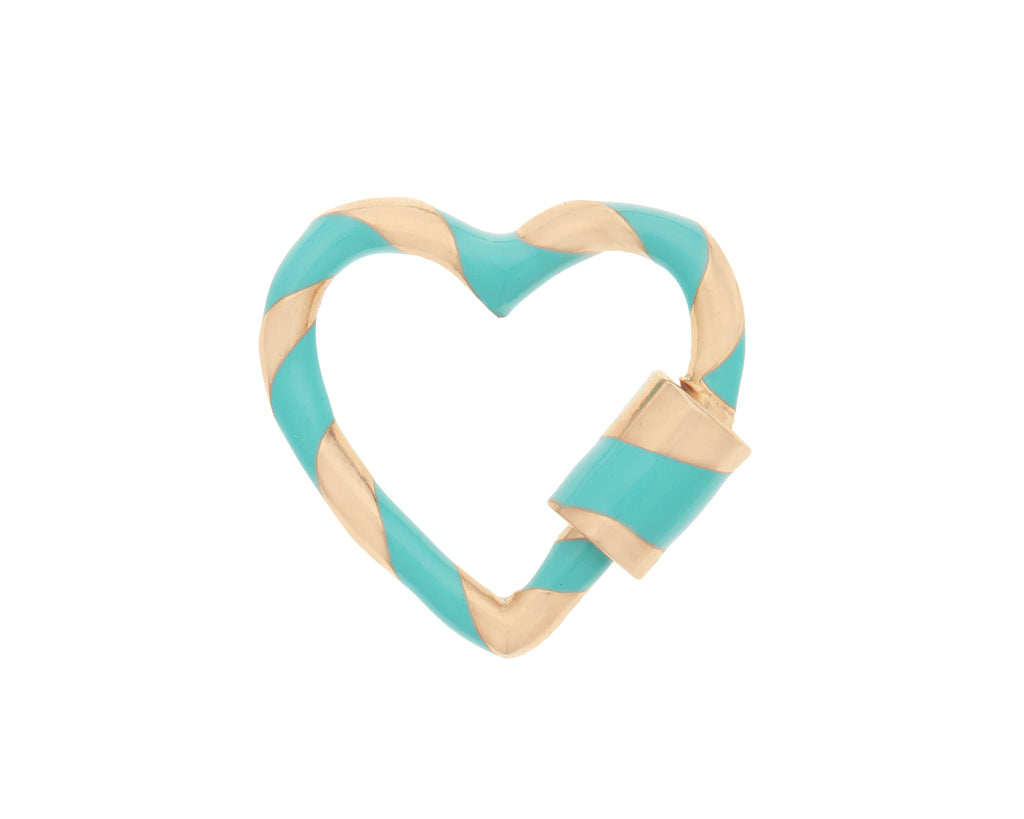 Heart Lock with Turquoise Enamel