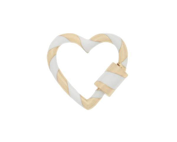 Heart Lock with White Enamel