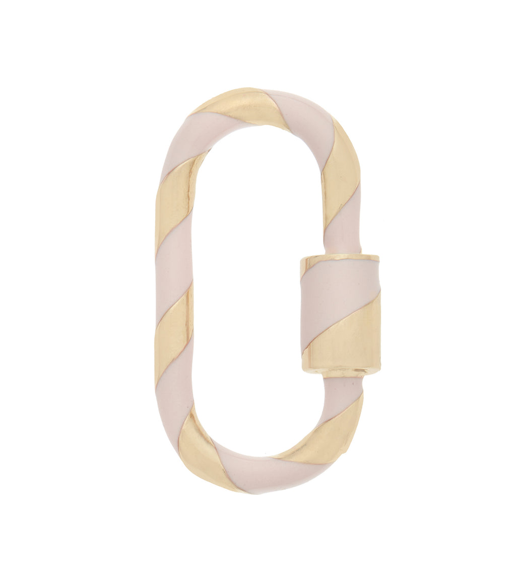 Medium Lock with Blush Enamel