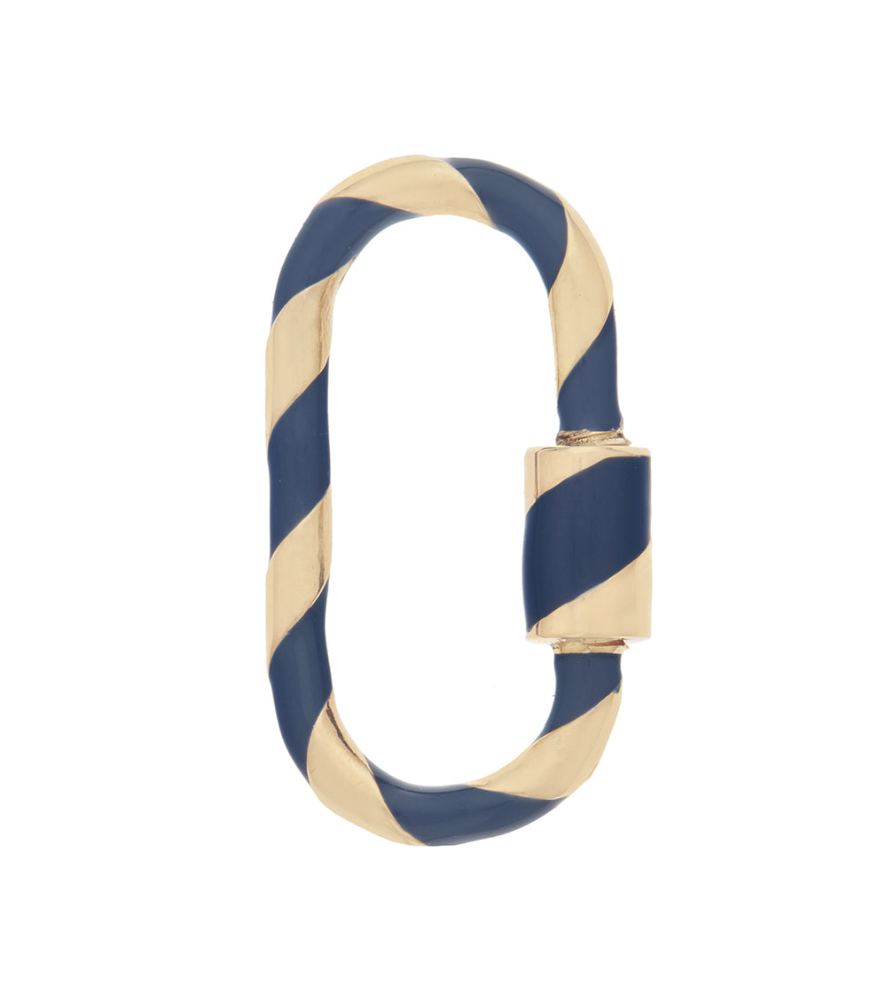 Medium Lock with Navy Enamel
