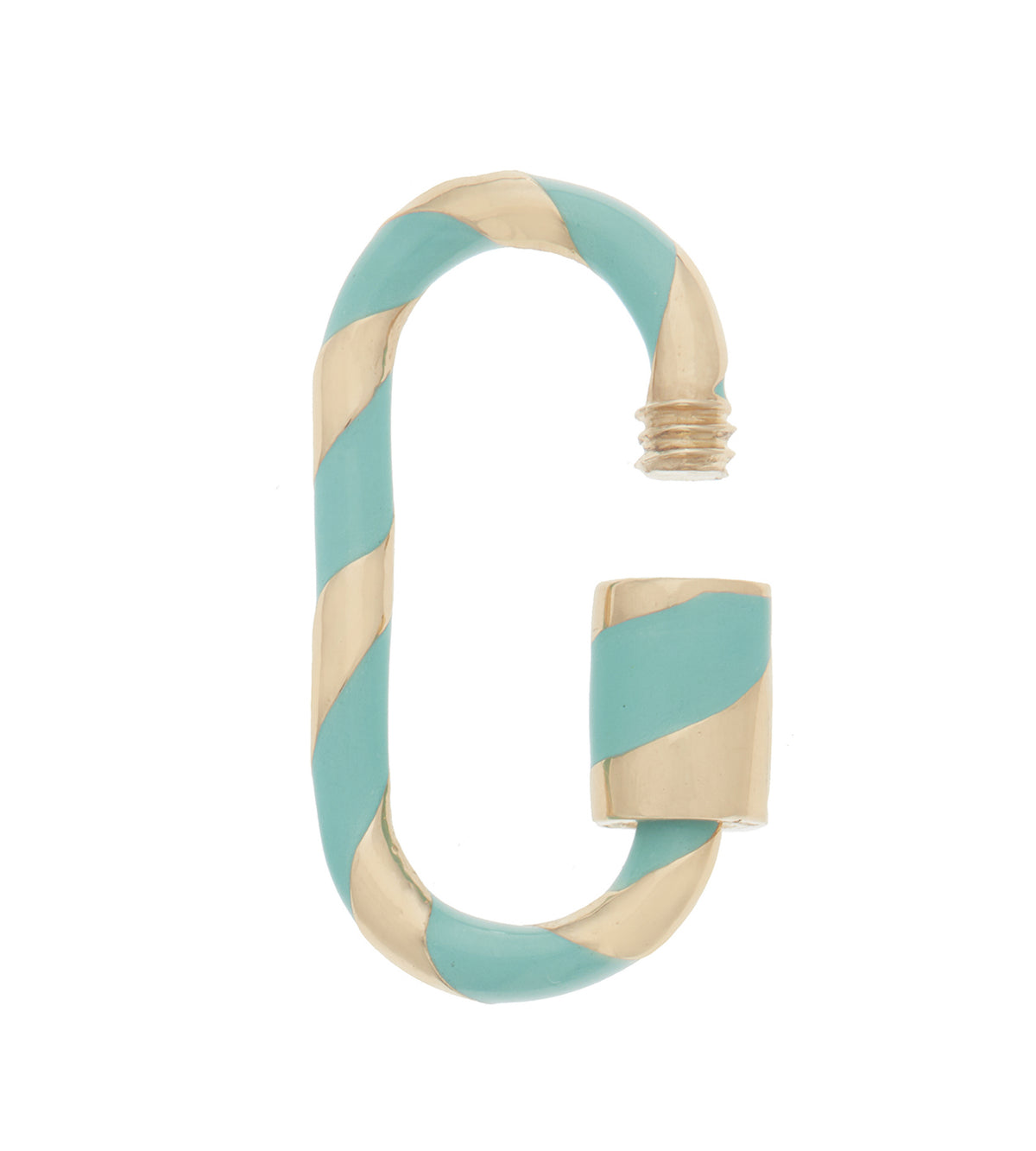 Medium Lock with Turquoise Enamel