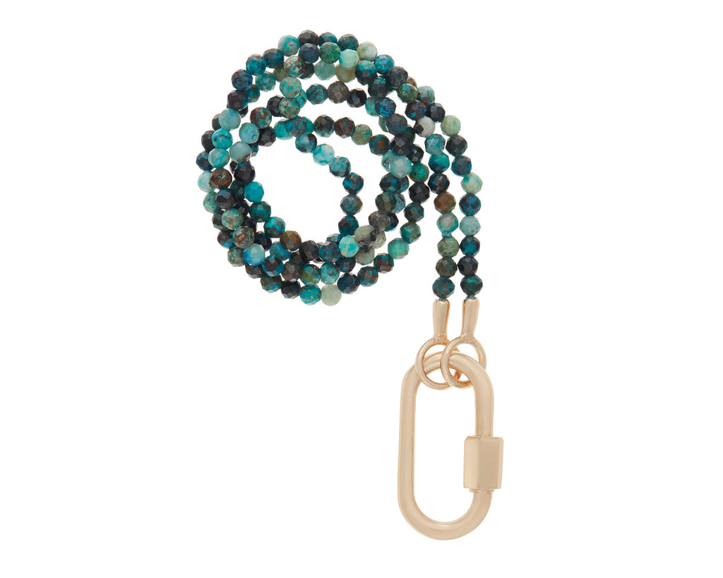 Itty Bitty Faceted Chrysocolla Strand with Medium Lock