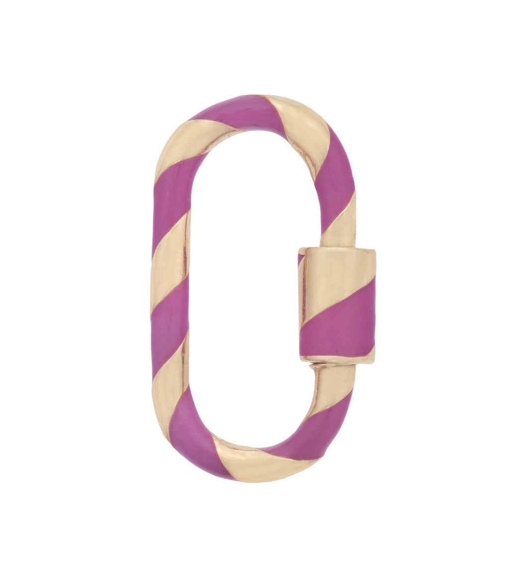 Medium Lock with Fuchsia Enamel