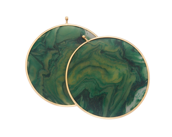 Brazilian Jade Disc Pair