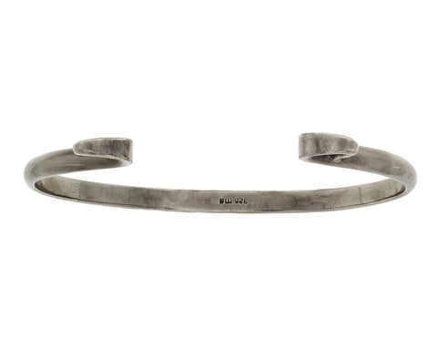 Blackened Silver Hard Hook Bracelet