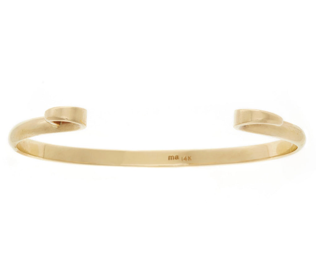 14K Yellow Gold Hard Hook Bracelet