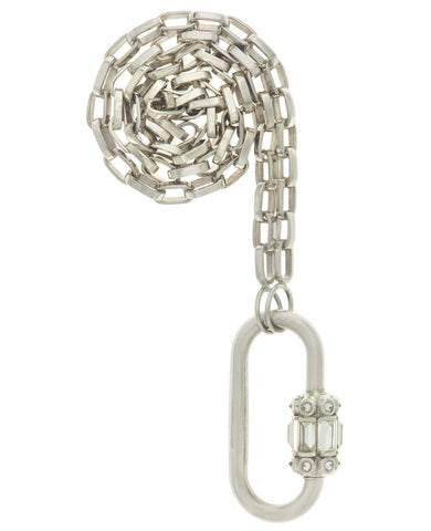 Platinum Hatsepshut Lock with Diamonds on Handmade Biker Chain