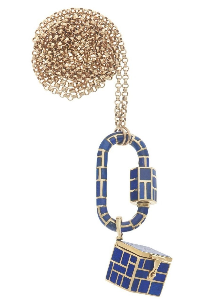 All Inlay Lapis Vinaigrette Necklace