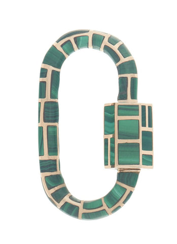 Linda Inlay Lock with Malachite