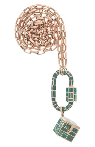 All Inlay Malachite Vinaigrette Necklace