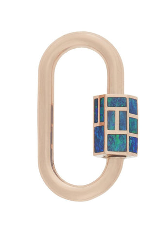 """Phyllis"" Lock with Opal"