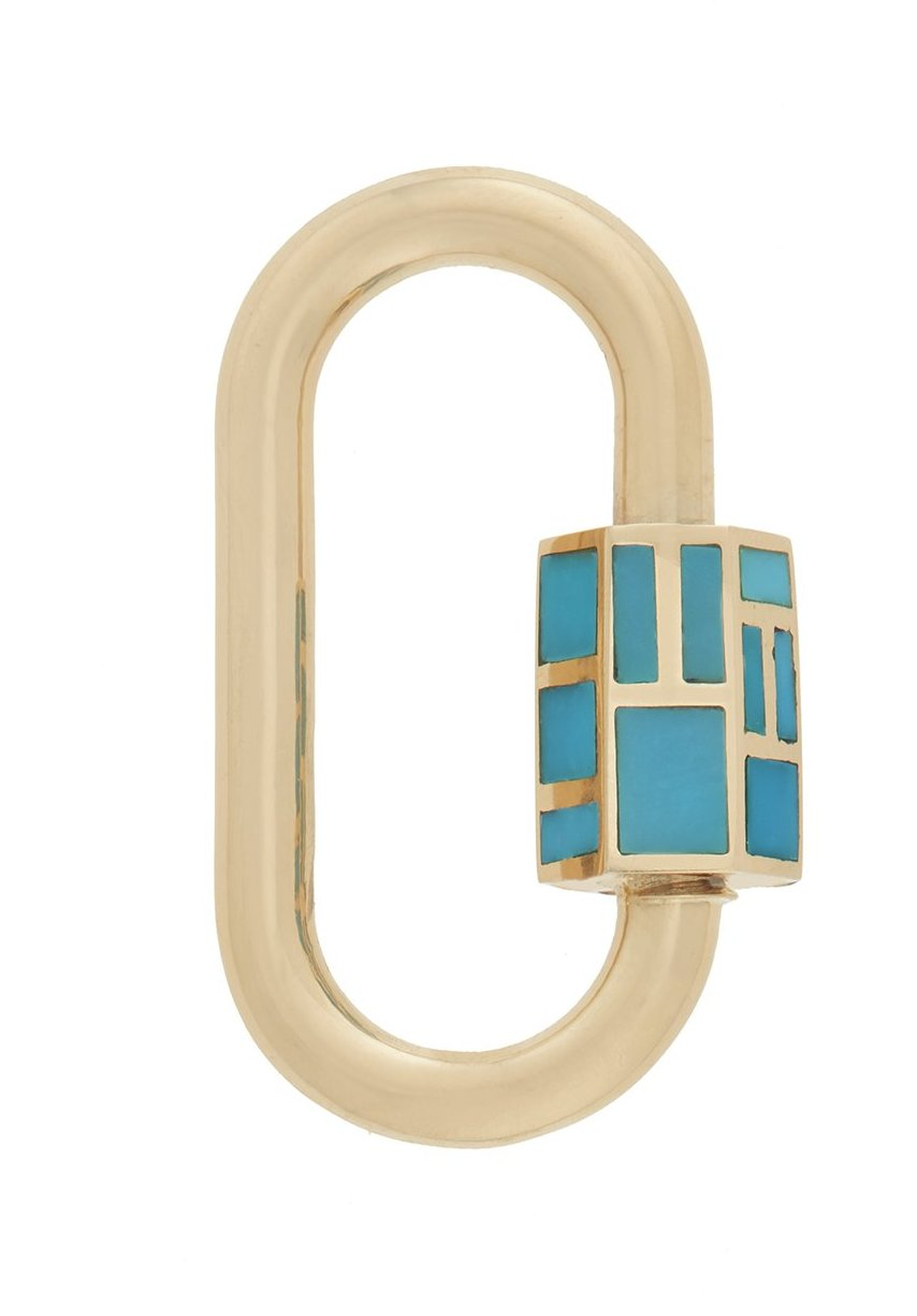 Inlay Lock with Turquoise