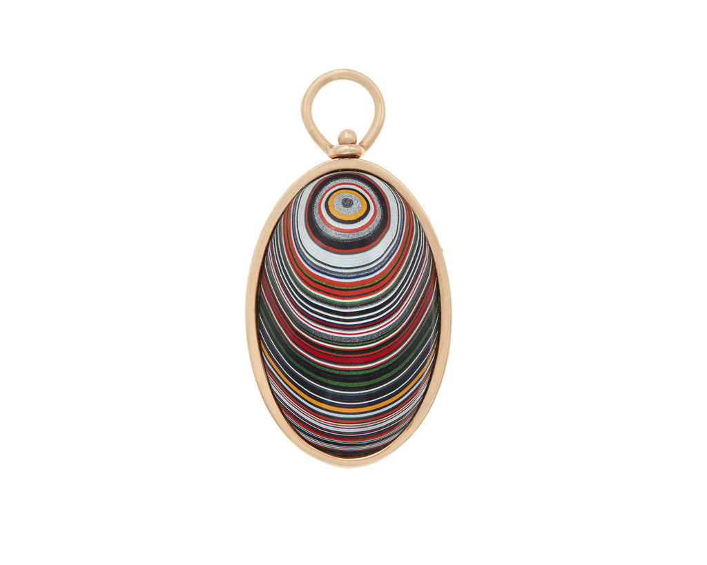Large Oval Charm with Fordite