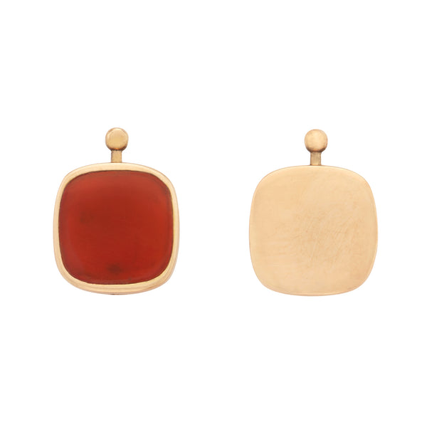 Cushion Lozenge with Carnelian and Gold