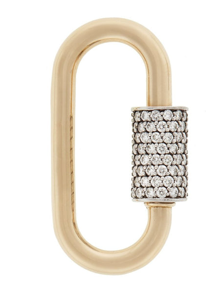 Stoned Large Lock with Diamonds