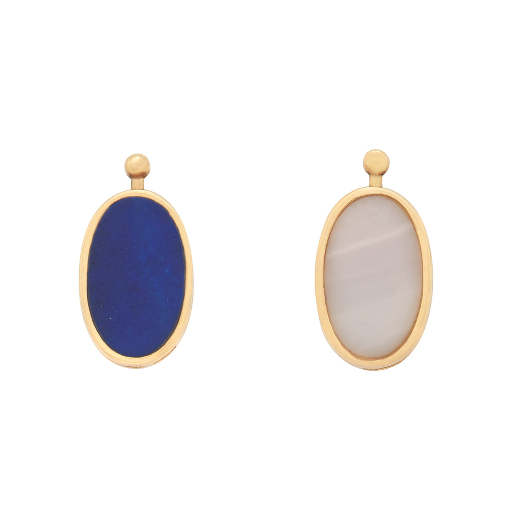 Oval Lozenge with Lapis and Mother of Pearl