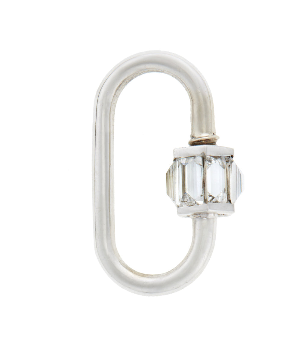 Total Medium Baguette Lock with Diamonds
