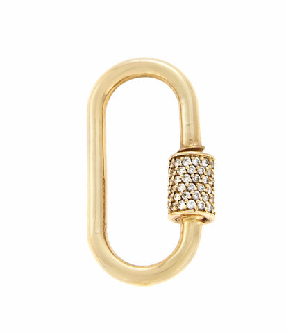 Yellow Gold Medium Stoned Lock with Diamond
