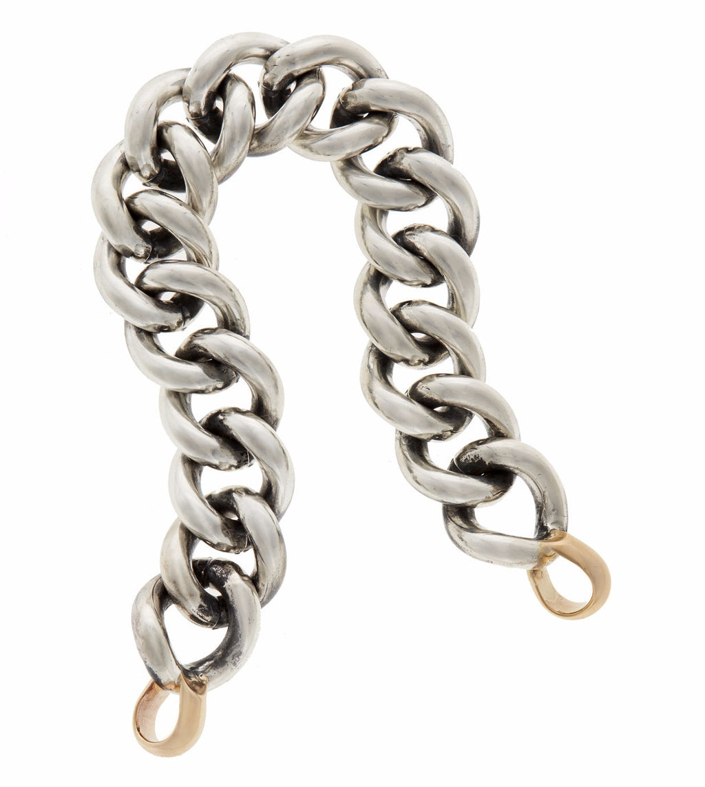 Mega Curb Chain in Silver