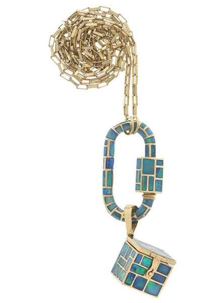 All Inlay Opal Vinaigrette Necklace