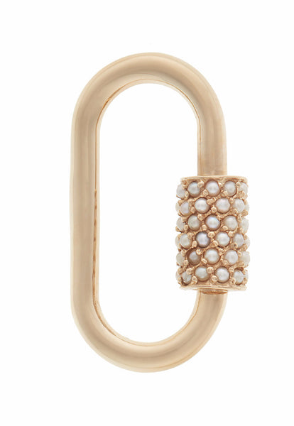 Yellow Gold Regular Lock with Pearls