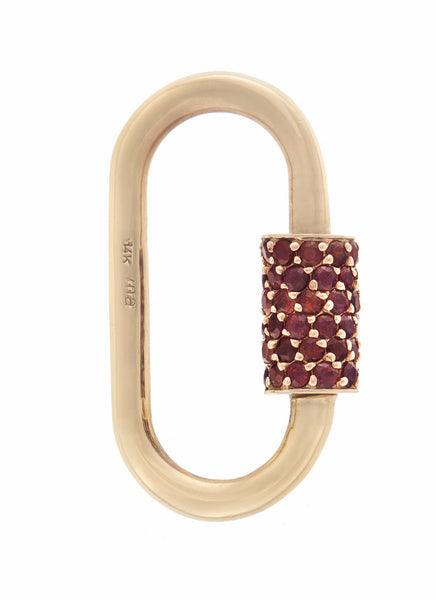 Gold Regular Lock with Red Songea Sapphire