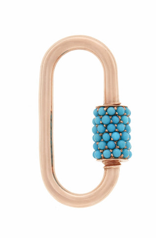 Regular Stoned Lock in Rose gold with Turquoise
