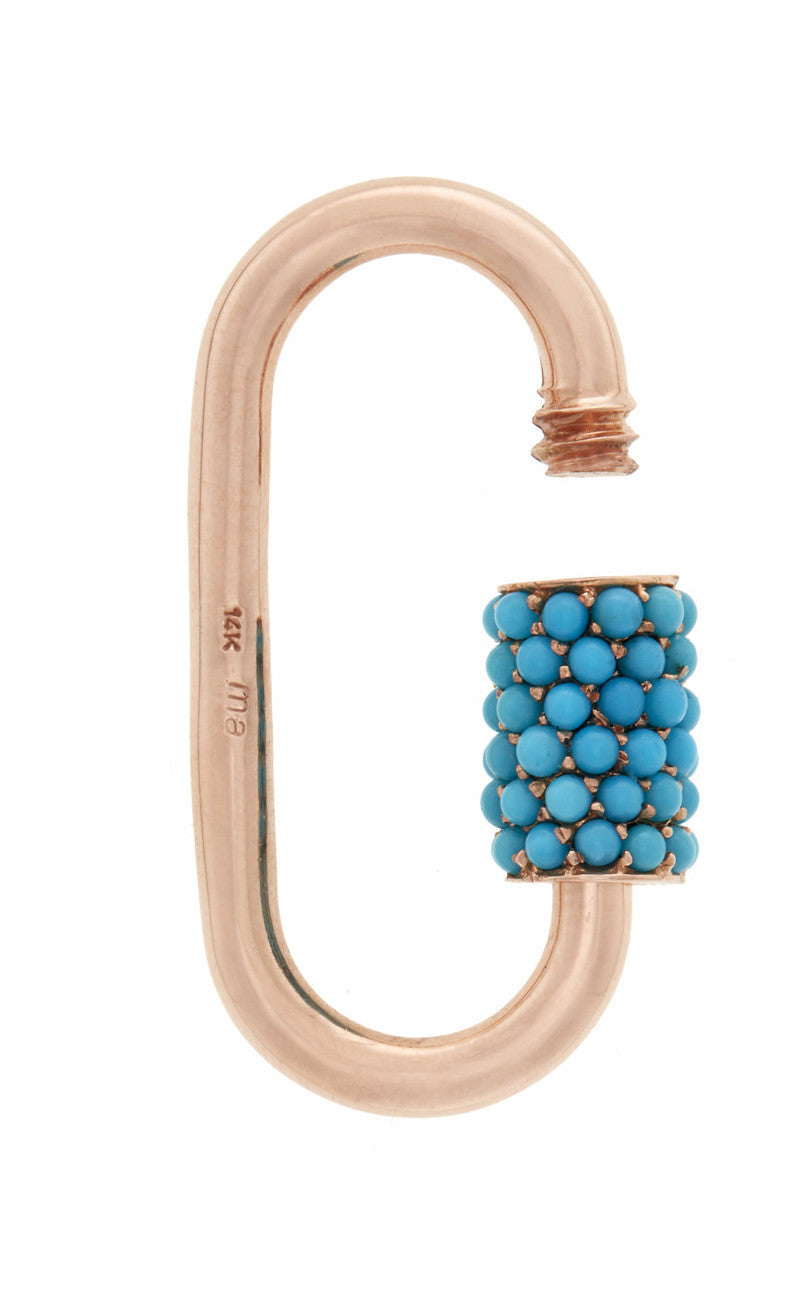 Stoned Regular Lock with Turquoise
