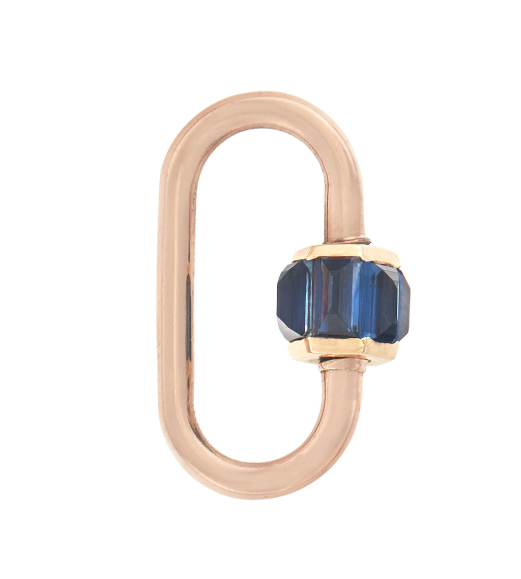 Total Medium Baguette Lock with Blue Sapphire