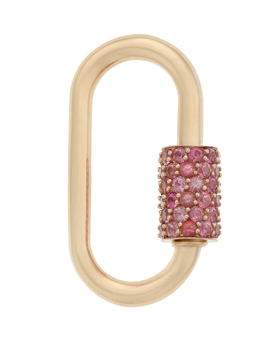 Stoned Regular Lock with Pink Spinel