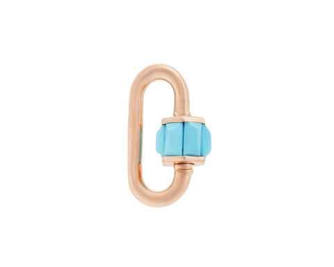 Rose Gold Total Baguette Baby Lock with Turquoise