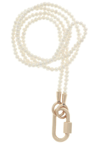 Seed Pearl Strand with Yellow Gold Baby Lock