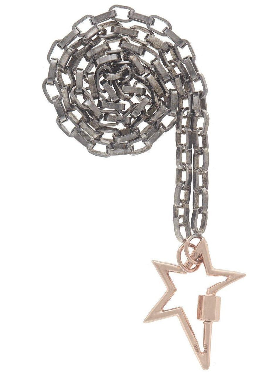 Rose Gold Starlock on a Biker Chain