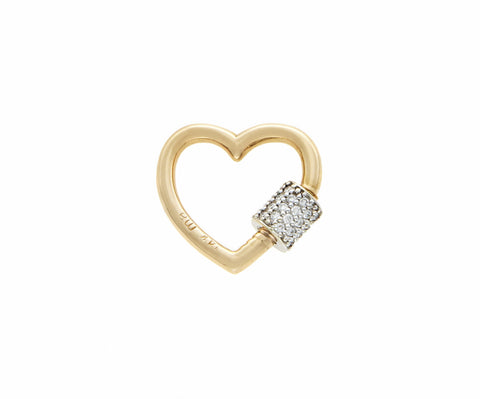 Yellow Gold Stoned Baby Heart Lock