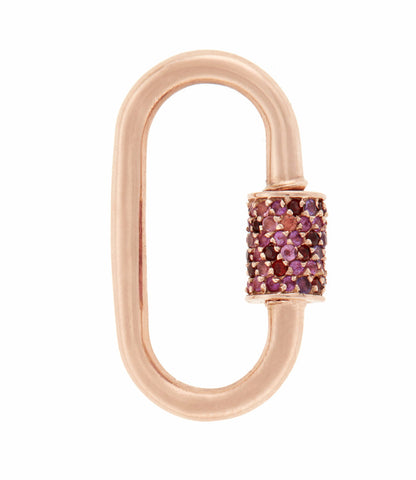Rose Gold Medium Stoned Lock with Pink Sapphire