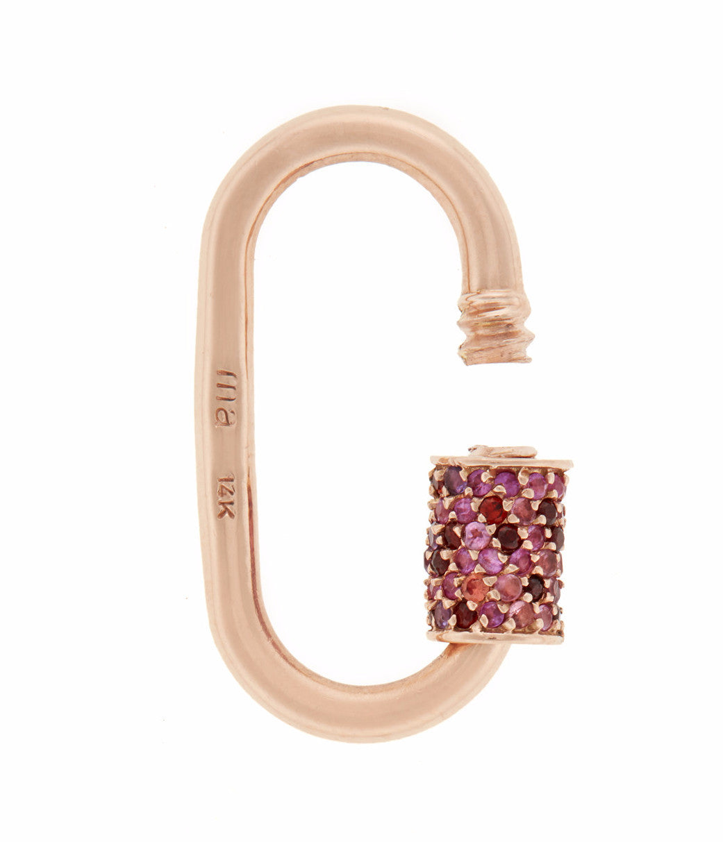 Stoned Medium Lock with Pink Sapphire