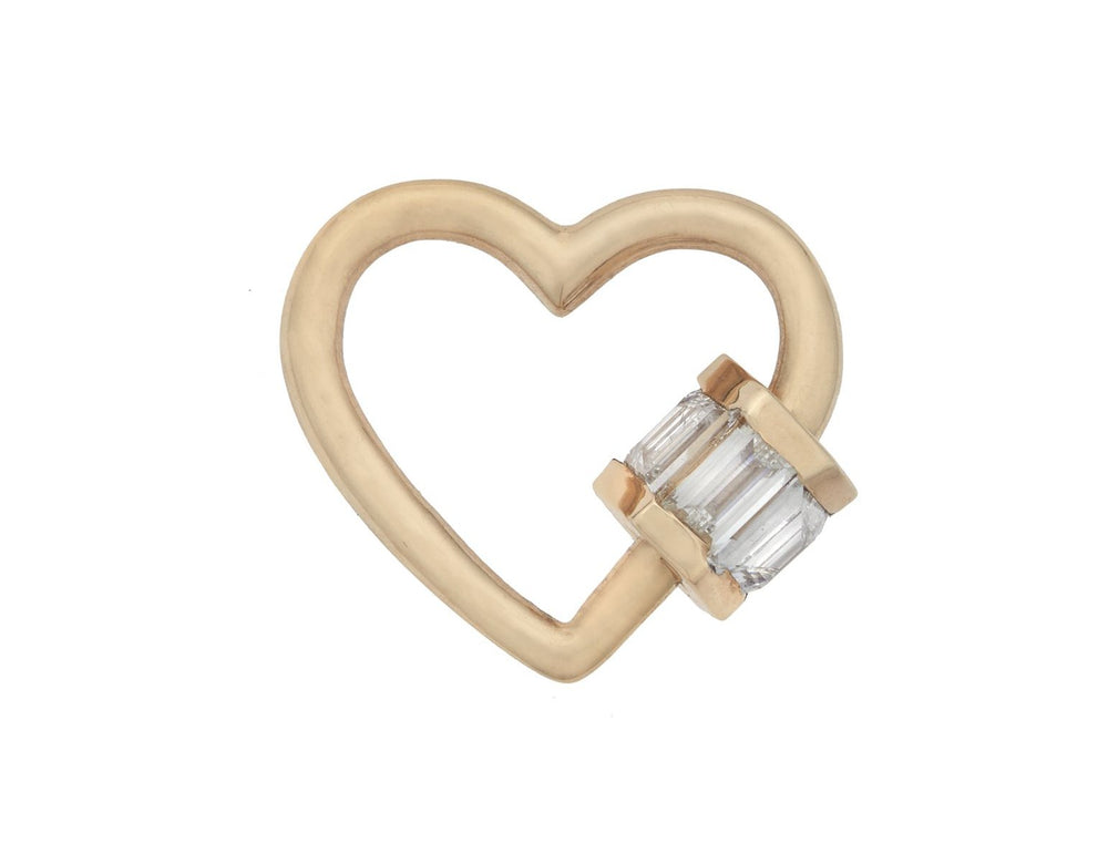 Total Baguette Baby Heartlock with Diamonds