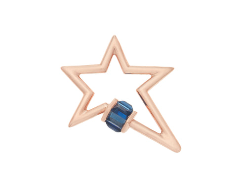 Total Baguette Star Lock with Blue Sapphires