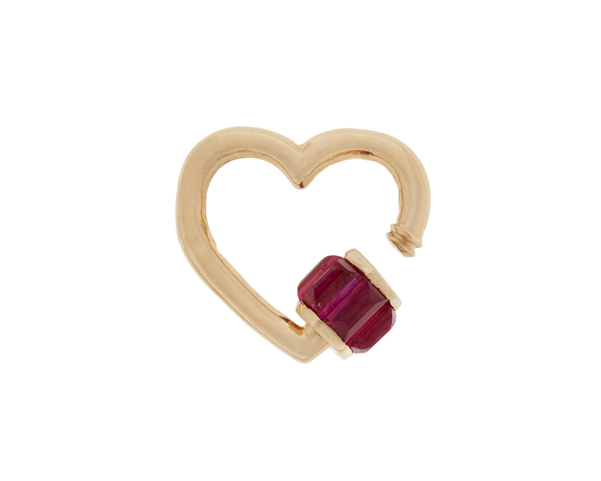 Total Baguette Baby Heartlock with Ruby