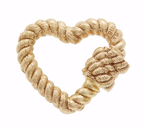 Yellow Gold Twisted Heart