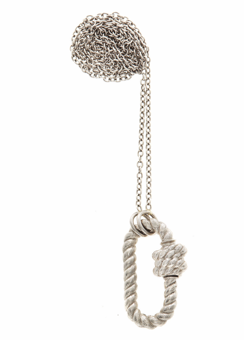 Platinum Twisted Lock Necklace