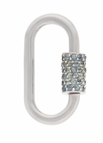 White Gold Regular Lock with Songea Sapphires
