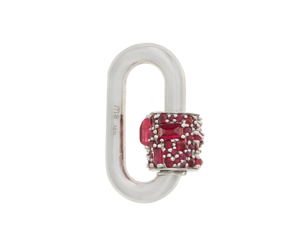 Stoned Chubby Medium Lock with Rubies