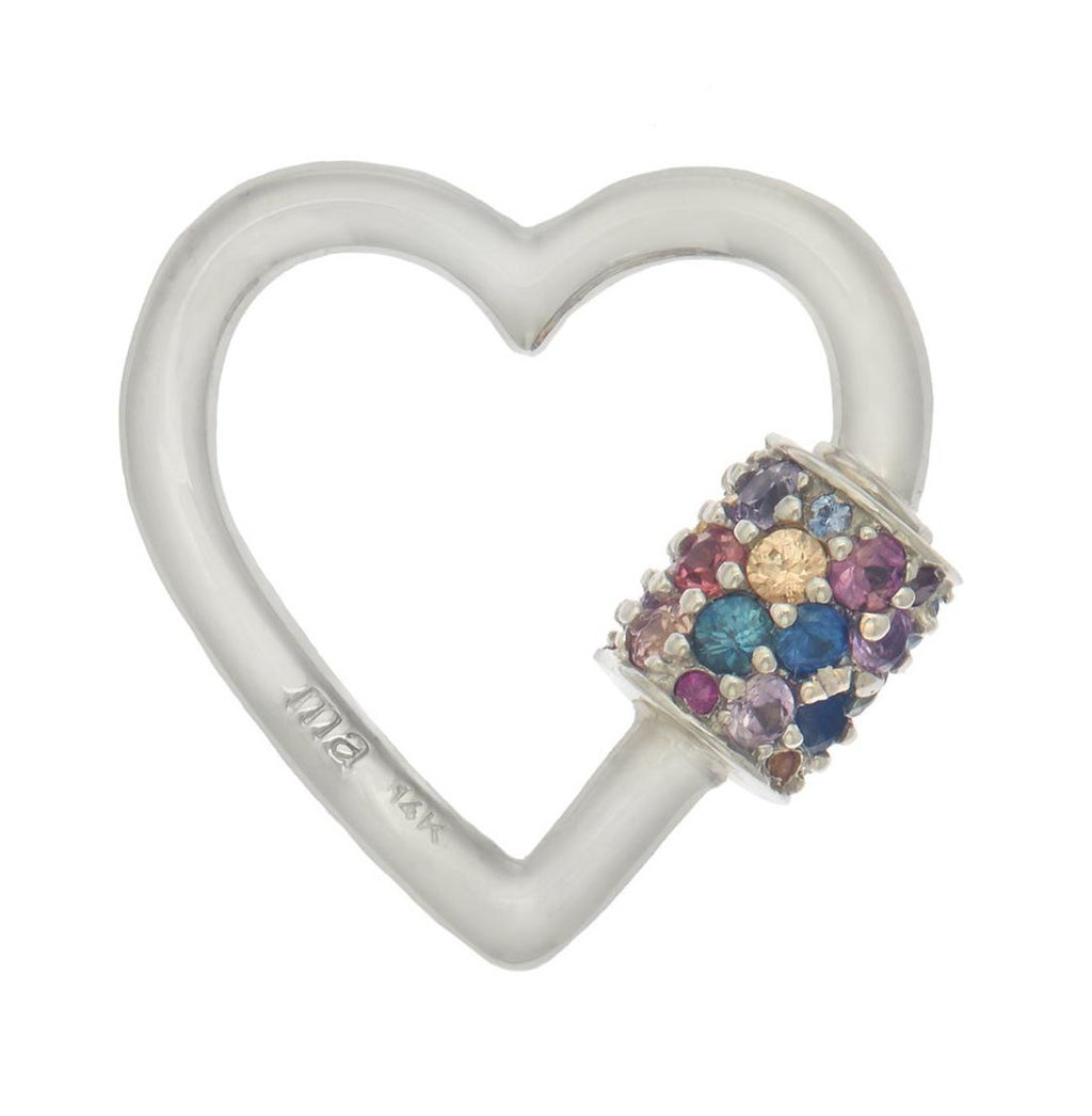 Stoned Heartlock with Mixed Sapphires